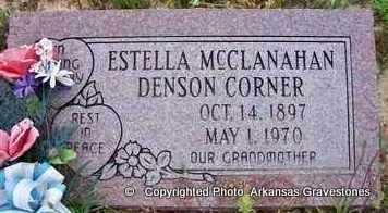 MCCLANAHAN DENSON, ESTELLA - Clark County, Arkansas   ESTELLA MCCLANAHAN DENSON - Arkansas Gravestone Photos