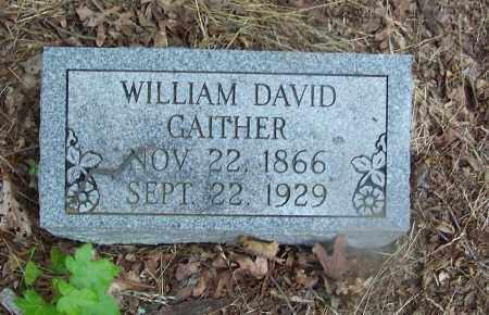 GAITHER, WILLIAM DAVID - Clark County, Arkansas   WILLIAM DAVID GAITHER - Arkansas Gravestone Photos