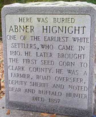 HIGNIGHT, ABNER - Clark County, Arkansas | ABNER HIGNIGHT - Arkansas Gravestone Photos