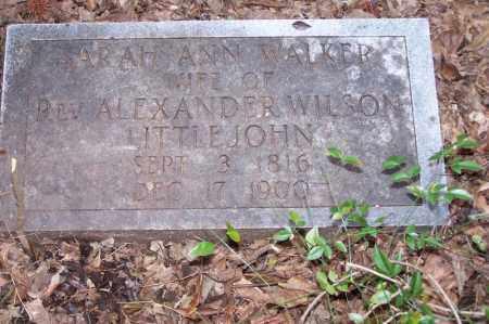 LITTLEJOHN, SARAH ANN - Clark County, Arkansas | SARAH ANN LITTLEJOHN - Arkansas Gravestone Photos
