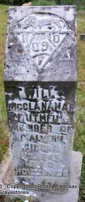 MCCLANAHAN, WILL - Clark County, Arkansas   WILL MCCLANAHAN - Arkansas Gravestone Photos