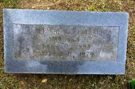 MCCASKILL, ELIZABETH - Clark County, Arkansas | ELIZABETH MCCASKILL - Arkansas Gravestone Photos