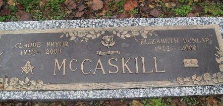DUNLAP MCCASKILL, ELIZABETH - Clark County, Arkansas | ELIZABETH DUNLAP MCCASKILL - Arkansas Gravestone Photos