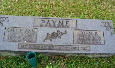 LANGSTON PAYNE, SALLIE ANN - Clark County, Arkansas   SALLIE ANN LANGSTON PAYNE - Arkansas Gravestone Photos