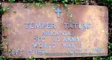 TATUM (VETERAN  WWI), KEMPER - Clark County, Arkansas   KEMPER TATUM (VETERAN  WWI) - Arkansas Gravestone Photos