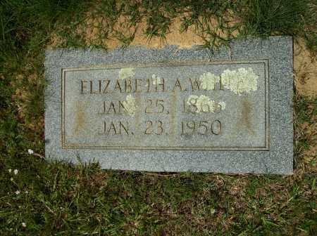 WHITE, ELIZABETH A - Clark County, Arkansas   ELIZABETH A WHITE - Arkansas Gravestone Photos