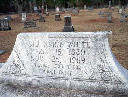 WHITE, SID ABBIE - Clark County, Arkansas | SID ABBIE WHITE - Arkansas Gravestone Photos