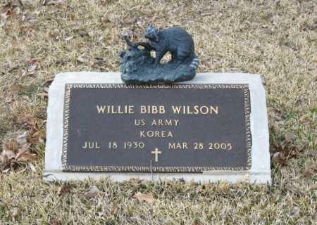 WILSON (VETERAN KOR), WILLIE BIBB - Clark County, Arkansas | WILLIE BIBB WILSON (VETERAN KOR) - Arkansas Gravestone Photos
