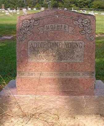 YOUNG, ADDIE JANE - Clark County, Arkansas | ADDIE JANE YOUNG - Arkansas Gravestone Photos