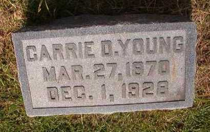 YOUNG, CARRIE D - Clark County, Arkansas | CARRIE D YOUNG - Arkansas Gravestone Photos