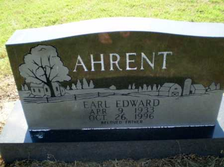 AHRENT, EARL EDWARD - Clay County, Arkansas | EARL EDWARD AHRENT - Arkansas Gravestone Photos