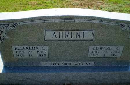 AHRENT, EDWARD C - Clay County, Arkansas | EDWARD C AHRENT - Arkansas Gravestone Photos