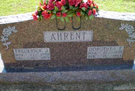 AHRENT, FREDERICK JOHN - Clay County, Arkansas | FREDERICK JOHN AHRENT - Arkansas Gravestone Photos