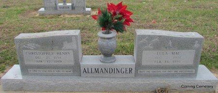 ALLMANDINGER, CHRISTOPHER HENRY - Clay County, Arkansas | CHRISTOPHER HENRY ALLMANDINGER - Arkansas Gravestone Photos