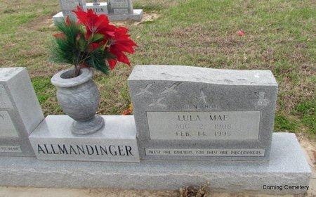 ALLMANDINGER, LULA MAE (CLOSE UP) - Clay County, Arkansas | LULA MAE (CLOSE UP) ALLMANDINGER - Arkansas Gravestone Photos