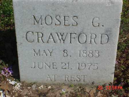 CRAWFORD, MOSES G - Clay County, Arkansas | MOSES G CRAWFORD - Arkansas Gravestone Photos