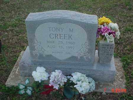 CREEK, TONY M - Clay County, Arkansas   TONY M CREEK - Arkansas Gravestone Photos