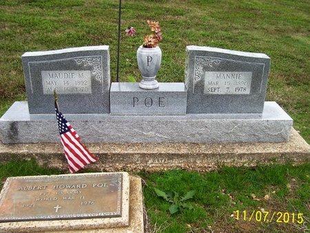 POE, MANNIE - Clay County, Arkansas | MANNIE POE - Arkansas Gravestone Photos
