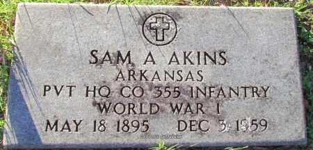 AKINS (VETERAN WWI), SAM A - Cleburne County, Arkansas | SAM A AKINS (VETERAN WWI) - Arkansas Gravestone Photos