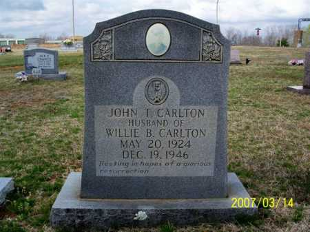 CARLTON, JOHN T. - Cleburne County, Arkansas   JOHN T. CARLTON - Arkansas Gravestone Photos