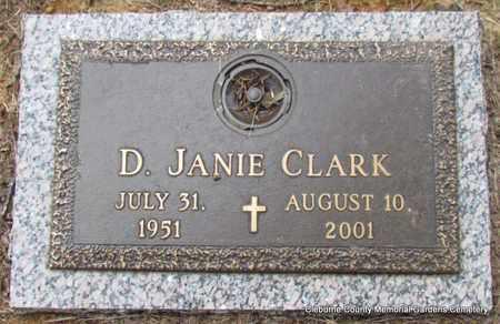 CLARK, D JANE - Cleburne County, Arkansas   D JANE CLARK - Arkansas Gravestone Photos