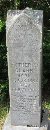 CLARK, ESTHER D. - Cleburne County, Arkansas | ESTHER D. CLARK - Arkansas Gravestone Photos