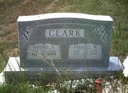 CLARK, FARRELL W - Cleburne County, Arkansas | FARRELL W CLARK - Arkansas Gravestone Photos