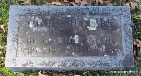 CLARK, WINONA H - Cleburne County, Arkansas | WINONA H CLARK - Arkansas Gravestone Photos