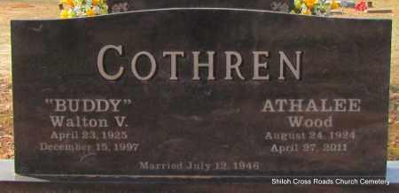 COTHREN, ATHALEE - Cleburne County, Arkansas | ATHALEE COTHREN - Arkansas Gravestone Photos