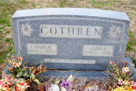 COTHREN, CHARLIE - Cleburne County, Arkansas | CHARLIE COTHREN - Arkansas Gravestone Photos