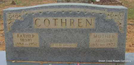 COTHREN, HENRY - Cleburne County, Arkansas | HENRY COTHREN - Arkansas Gravestone Photos