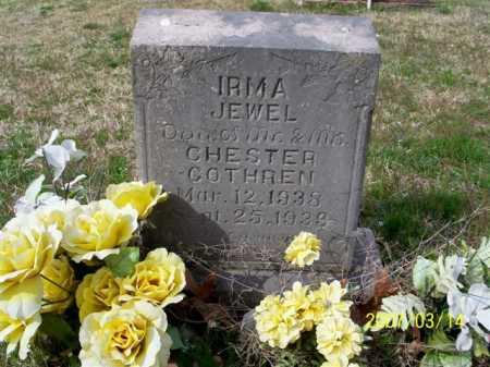 COTHREN, IRMA JEWEL - Cleburne County, Arkansas | IRMA JEWEL COTHREN - Arkansas Gravestone Photos