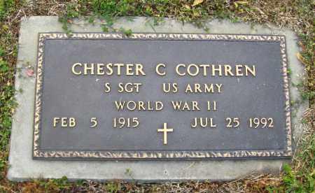 COTHREN (VETERAN WWII), CHESTER C. - Cleburne County, Arkansas | CHESTER C. COTHREN (VETERAN WWII) - Arkansas Gravestone Photos