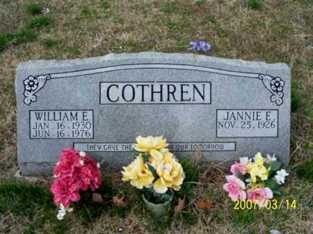 COTHREN, WILLIAM E. - Cleburne County, Arkansas   WILLIAM E. COTHREN - Arkansas Gravestone Photos