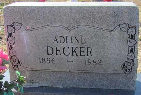 DECKER, ADLINE - Cleburne County, Arkansas | ADLINE DECKER - Arkansas Gravestone Photos