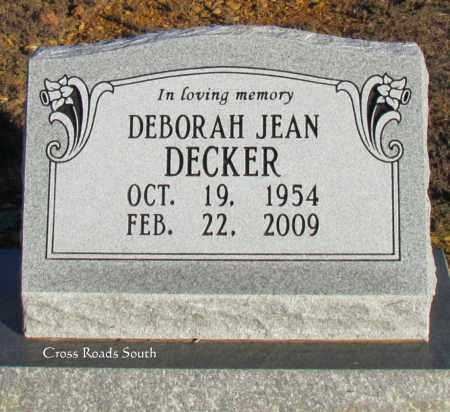 DECKER, DEBORAH JEAN - Cleburne County, Arkansas | DEBORAH JEAN DECKER - Arkansas Gravestone Photos