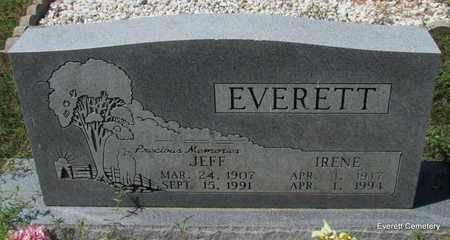 EVERETT, IRENE - Cleburne County, Arkansas | IRENE EVERETT - Arkansas Gravestone Photos
