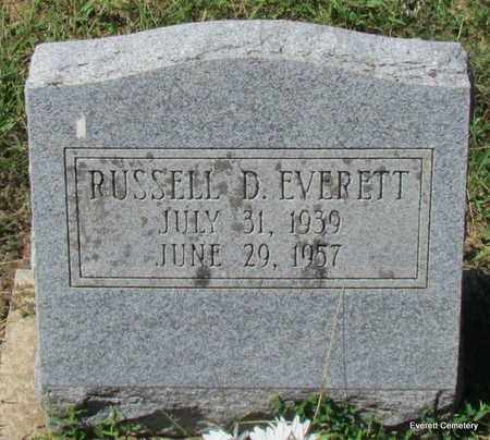 EVERETT, RUSSELL D - Cleburne County, Arkansas | RUSSELL D EVERETT - Arkansas Gravestone Photos
