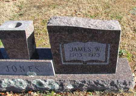 JONES, JAMES W (CLOSE UP) - Cleburne County, Arkansas   JAMES W (CLOSE UP) JONES - Arkansas Gravestone Photos