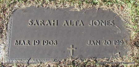 JONES, SARAH ALTA - Cleburne County, Arkansas | SARAH ALTA JONES - Arkansas Gravestone Photos