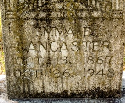 VERSER LANCASTER, EMMA EUNICE (CLOSE UP) - Cleburne County, Arkansas | EMMA EUNICE (CLOSE UP) VERSER LANCASTER - Arkansas Gravestone Photos
