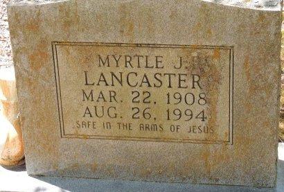 LANCASTER, MYRTLE J - Cleburne County, Arkansas | MYRTLE J LANCASTER - Arkansas Gravestone Photos