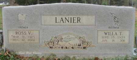 LANIER, WILLA T - Cleburne County, Arkansas   WILLA T LANIER - Arkansas Gravestone Photos