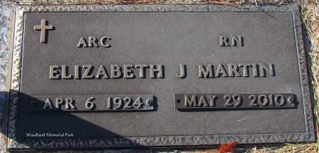 MARTIN, ELIZABETH J - Cleburne County, Arkansas   ELIZABETH J MARTIN - Arkansas Gravestone Photos
