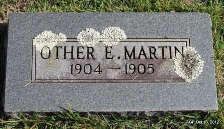 MARTIN, OTHER E - Cleburne County, Arkansas   OTHER E MARTIN - Arkansas Gravestone Photos