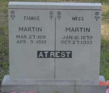 MARTIN, WESS - Cleburne County, Arkansas | WESS MARTIN - Arkansas Gravestone Photos