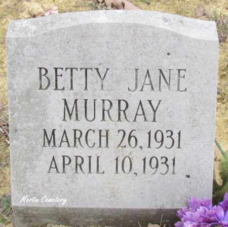 MURRAY, BETTY JANE - Cleburne County, Arkansas | BETTY JANE MURRAY - Arkansas Gravestone Photos