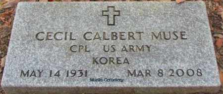 MUSE (VETERAN KOR), CECIL CALBERT - Cleburne County, Arkansas | CECIL CALBERT MUSE (VETERAN KOR) - Arkansas Gravestone Photos