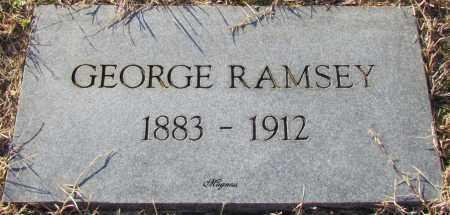 RAMSEY, GEORGE - Cleburne County, Arkansas   GEORGE RAMSEY - Arkansas Gravestone Photos