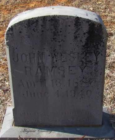 RAMSEY, JOHN WESLEY - Cleburne County, Arkansas   JOHN WESLEY RAMSEY - Arkansas Gravestone Photos